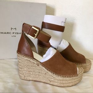 Marc Fisher Brown Suede Espadrille Sandal